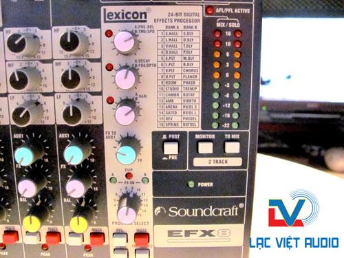 Các chế độ âm thanh tích hợp sẵn trong bàn mixer soundcraft EFX8
