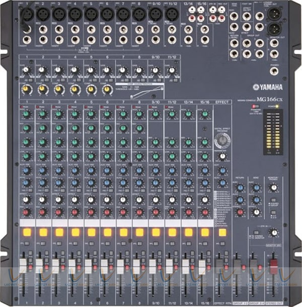 Mixer Yamaha MG166CX với 16 kênh đầu vào