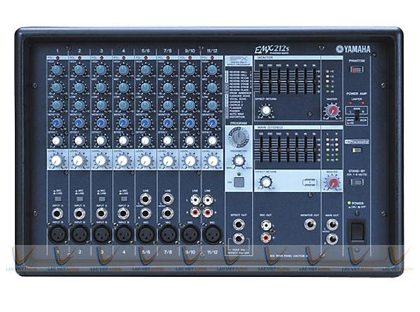 Hệ thống đầu vào của Mixer Yamaha EMX 212S