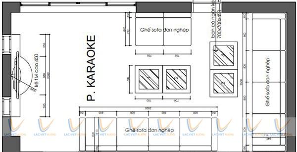 Bản vẽ thiết kế phòng karaoke