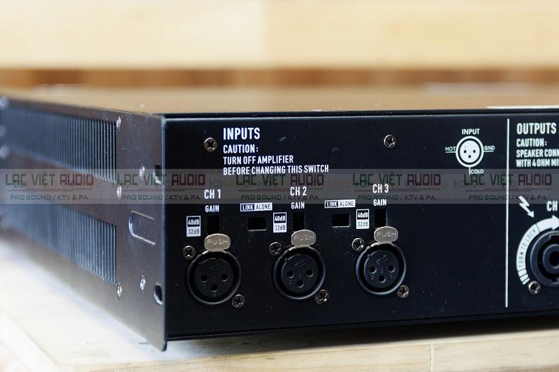 3 đường cắm tín hiệu vào cục đẩy 3 kênh BF audio