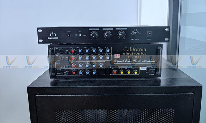 Bộ xủ lý trung tâm sử dụng 2 chiếc amply làm tăng hiệu quả cho dàn âm thanh