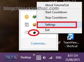 cài đặt phần mềm volume out để hẹn giờ tắt nhạc đi ngủ