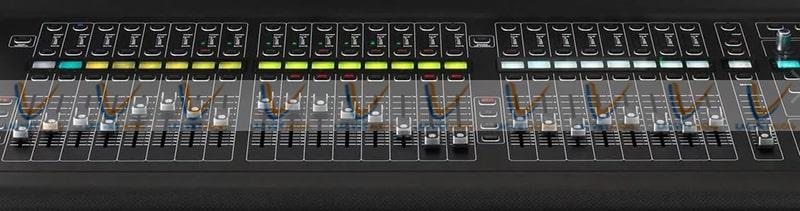 Các Fader của Mixer Midas M32 được tinh chỉnh dễ dàng