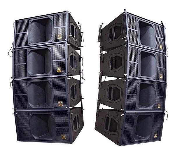 Loa array thường treo, để âm thanh được vang xa hơn