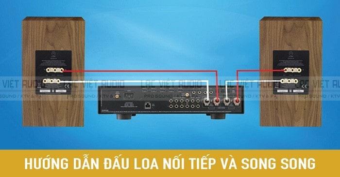 Đấu loa nối tiếp và song song được áp dụng phổ biến trong phối ghép thiết bị