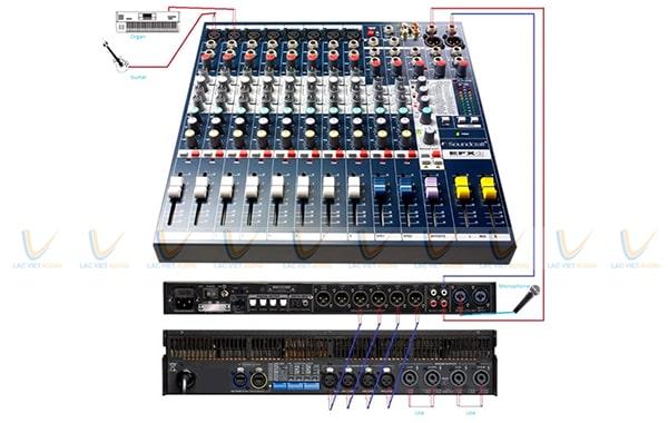 Kết nối vang số với mixer cho hiệu quả âm thanh chất lượng