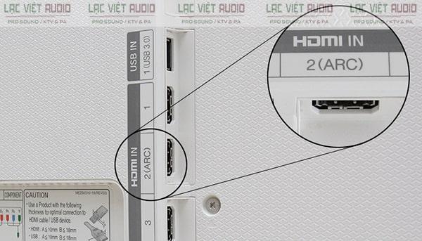Kết nối âm thanh tivi Samsung ra loa qua cổng HDMI
