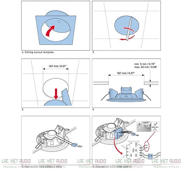 Tham khảo mô tả cách đấu loa âm trần cơ bản nhất
