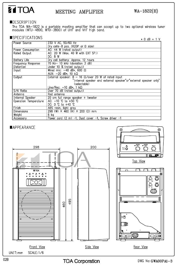 catalog-toa-cassette-wa-1822c