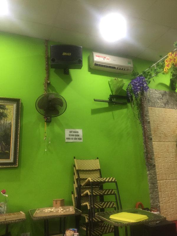 Loa BMB đảm bảo tính thảm mỹ cho quán cafe