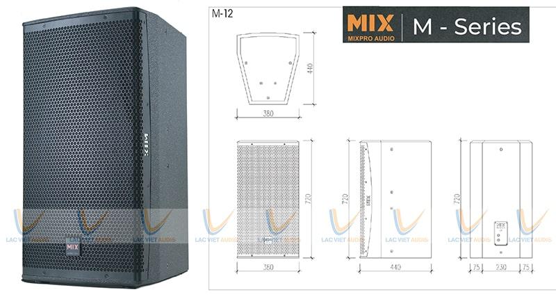 MIX M – 12 được thiết kế và sản xuất kỹ lưỡng từng khâu