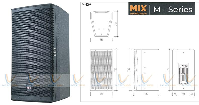 Cấu tạo loa karaoke MIX M – 12A