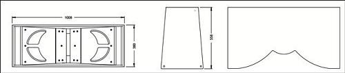 Sơ đồ cấu tạo vỏ thùng loa Array CAF CF1820