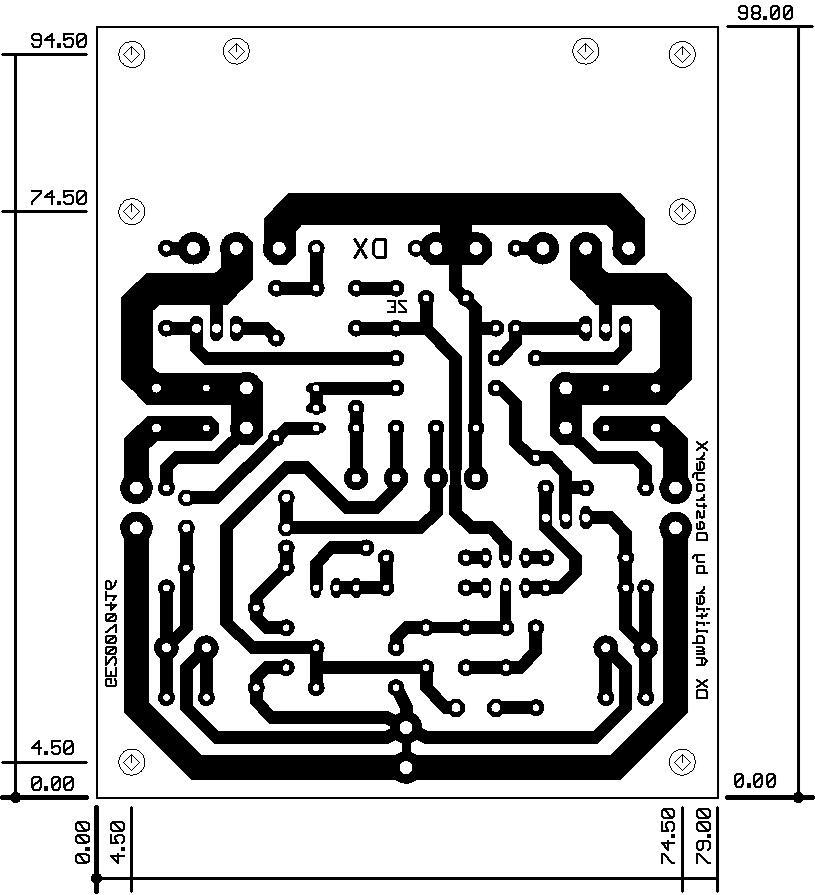 Hình ảnh mạch công suất trên bản vẽ