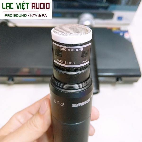 Chi tiết cấu tạo bên trong tay cầm micro không dây SHURE UT2