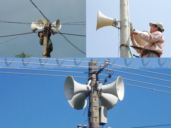 Loa nén công suất lớn ứng dụng phổ biến trong phát thanh và thông báo công cộng