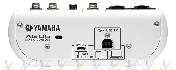 Cổng kết nối USB của Mixer Yamaha mini AG06