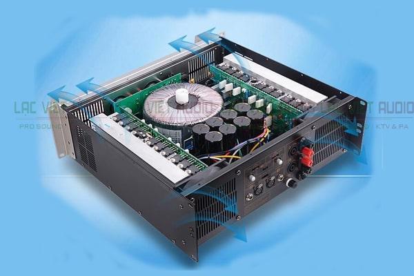 Cục đẩy công suất 16 sò chất lượng cho khả năng khuếch đại âm thanh cực tốt