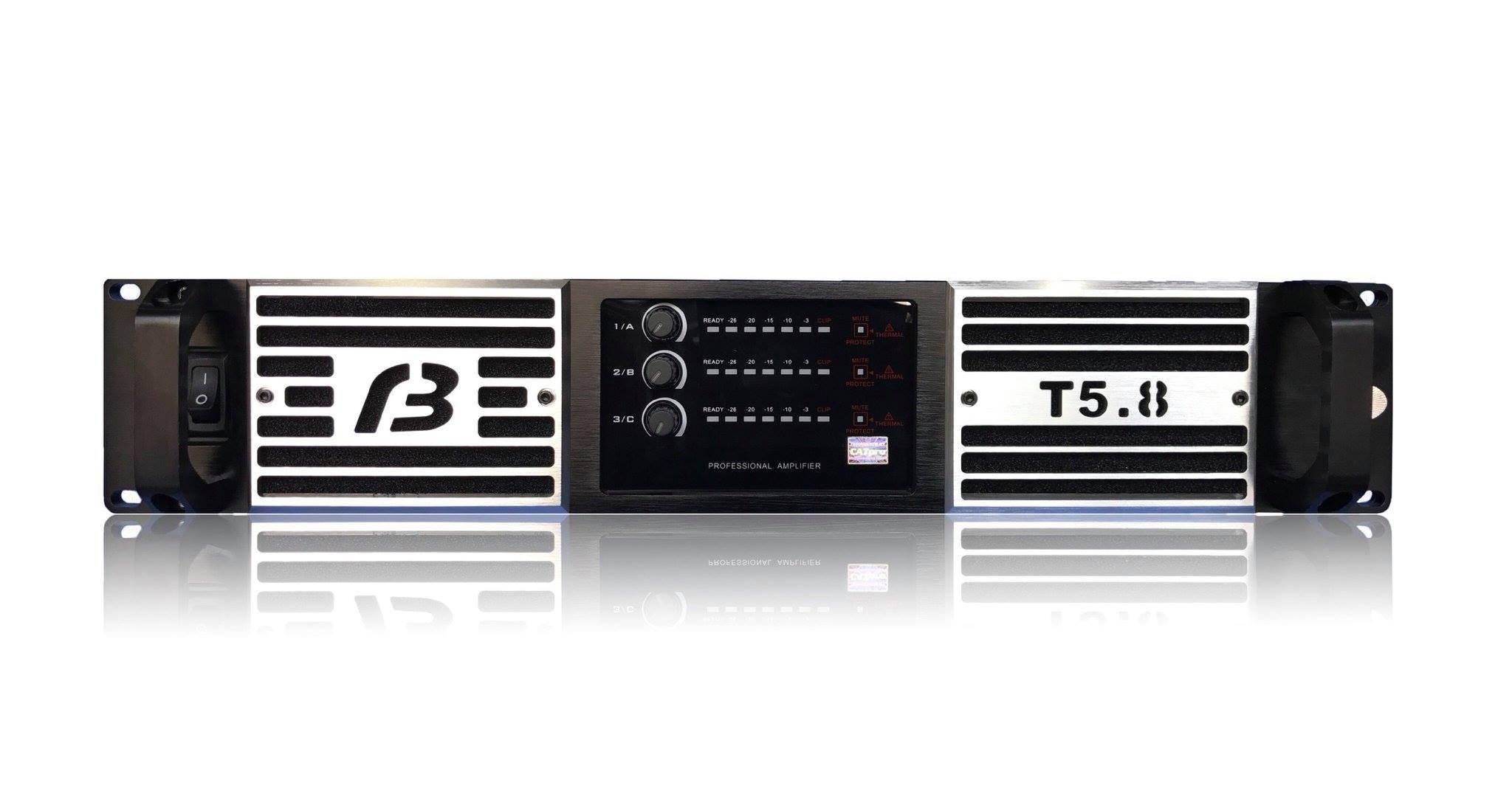 Mặt trước cục đẩy 3 kênh BF audio T5.8