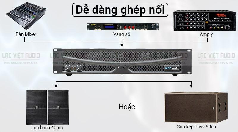 Cục đẩy APP MZ 156 có khả năng kết nối ấn tượng