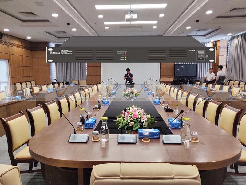 Cục đẩy công suất ASIMA SA-2500 được sử dụng cho nhiều dàn âm thanh phòng họp