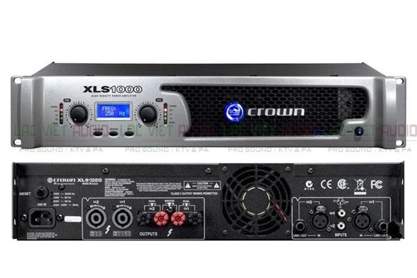 Cục đẩy bãi Crown XLS 1000 cho khả năng khuếch đại âm thanh tốt
