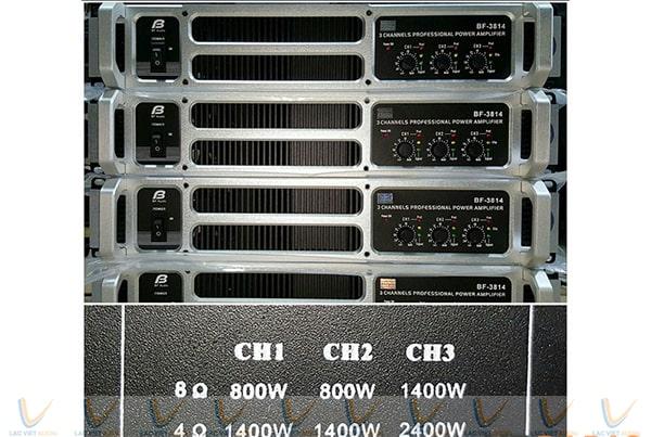 Các thông số kỹ thuật của BFaudio T8.14