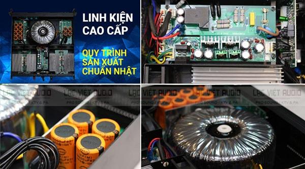 BIK VM 630A cho khả năng khuếch đại chuyên nghiệp với linh kiện cao cấp và công nghệ hiện đại