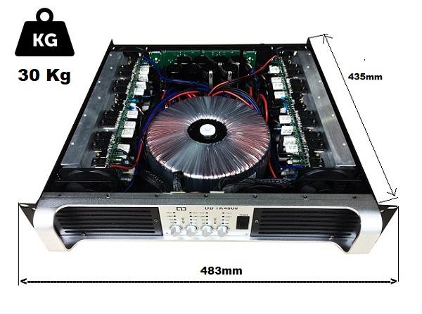 TK4800 có hệ thống tản nhiệt khủng gồm 4 quạt gió trước và sau