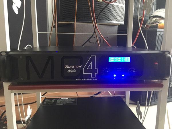 Cục đẩy Tohayun MC400 có chức năng cân bằng loa ở 2 kênh