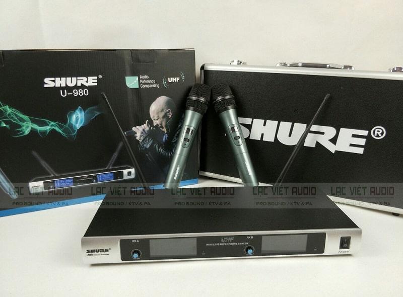 Bộ sản phẩm micro không dây Shure U980 hàng chính hãng chất lượng cao