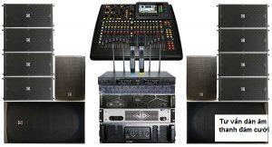 Dàn âm thanh đám cưới gồm những thiết bị gì?