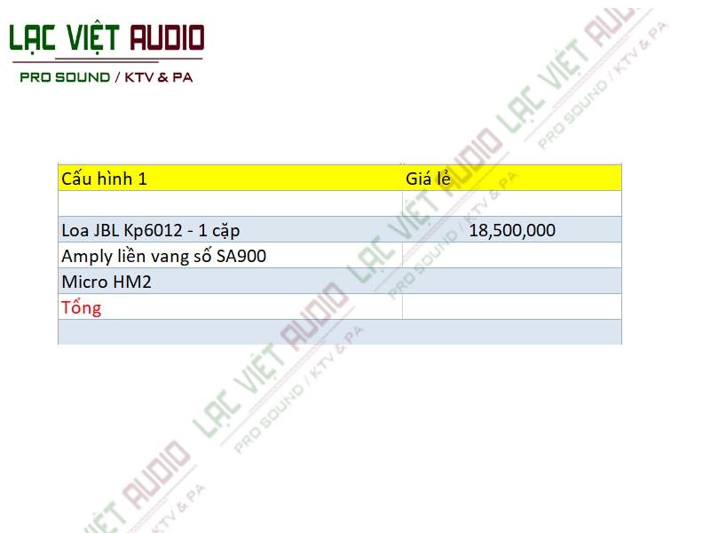 Danh sách hạng mục các thiết bị trong dàn âm thanh karaoke