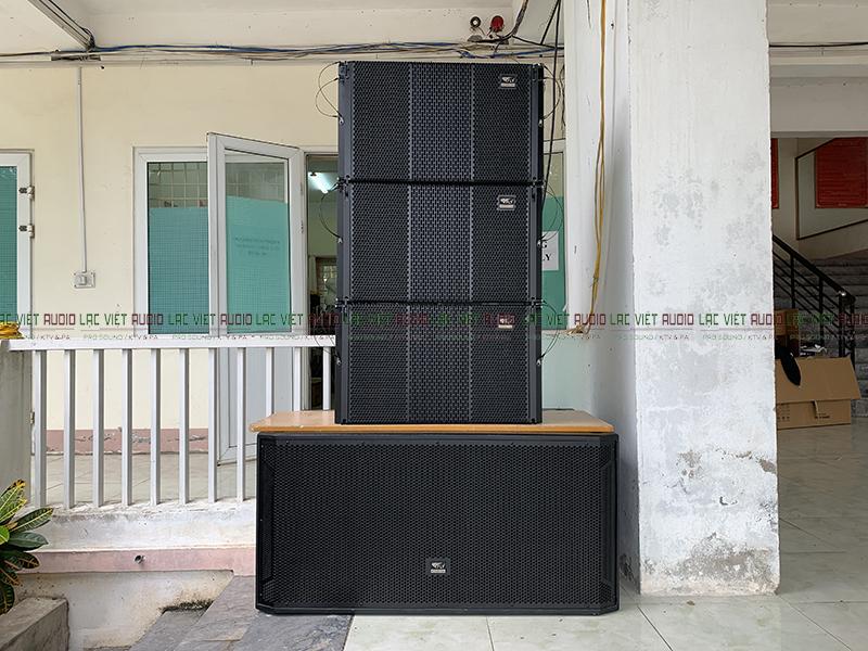Dàn loa array trường THCS Nguyễn Tất Thành