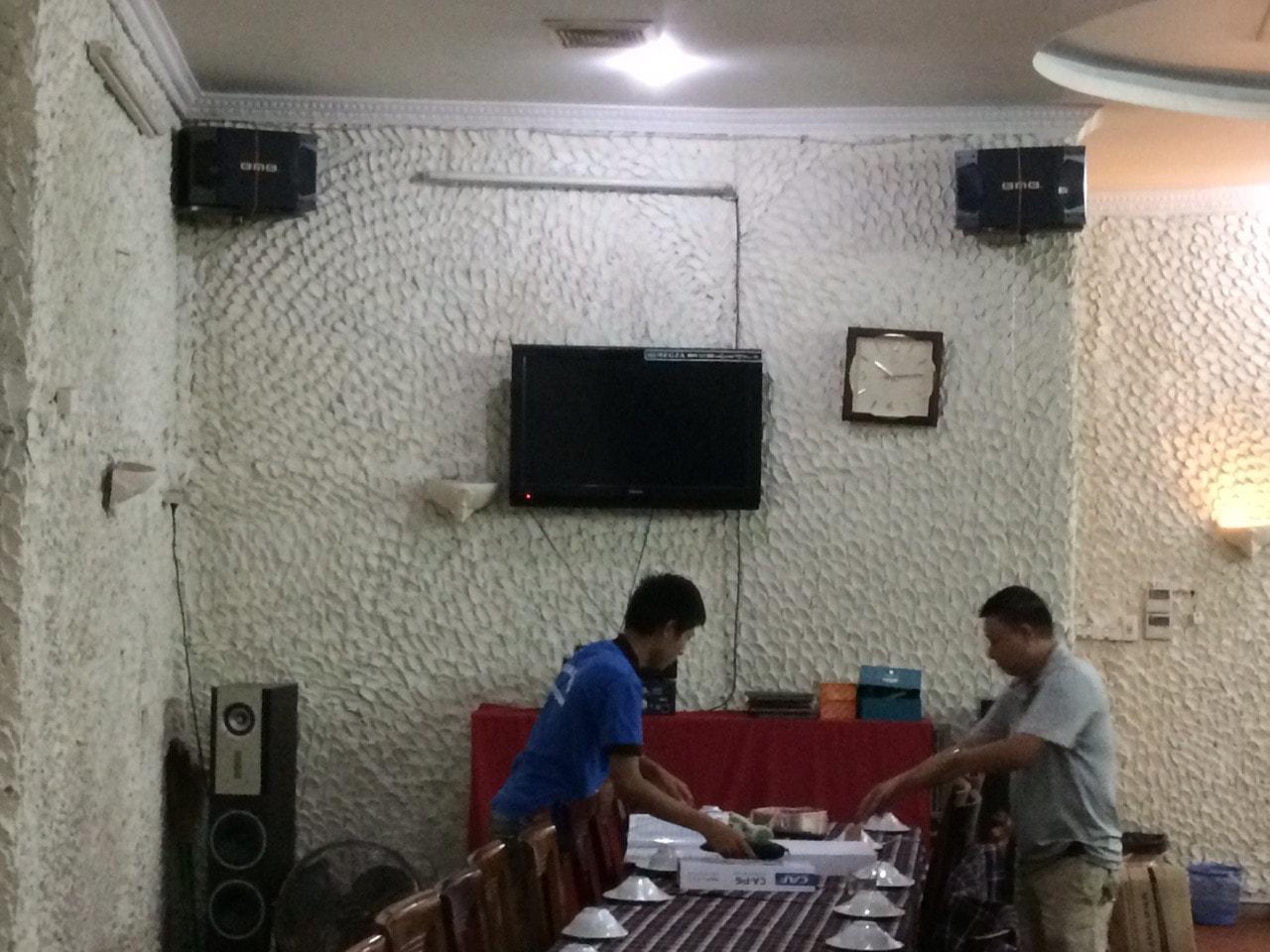 Dàn karaoke cho quán hải sản Kim Anh tại Phan Chu Trinh