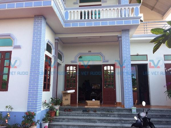 Căn nhà mới xây của anh Hoàng