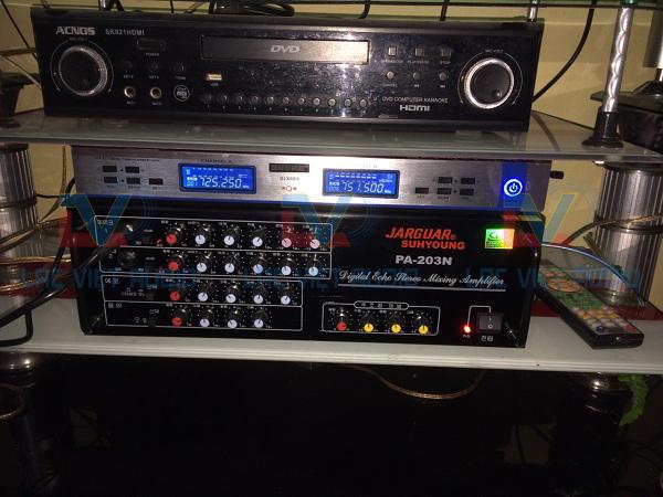 Amply Jarguar 203N, micro BLX 68A và đầu karaoke Acnos