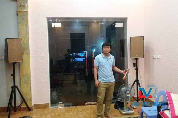 Dàn karaoke gia đình cao cấp tại LV Audio cung cấp cho khách hàng chú Quang