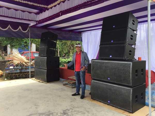 Dự án âm thanh dàn Array cho khách hàng anh Minh Phú Thọ