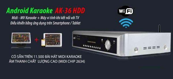 Đầu karaoke arirang AK 36 HDD tiên phong công nghệ.