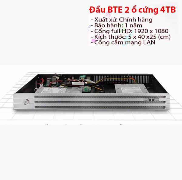 Đầu karaoke BTE 2 ổ cứng 4TB