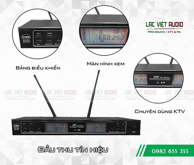 Đầu thu micro đơn giản, hiển thị đầy đủ thông số của sản phẩm micro KBS 5100A