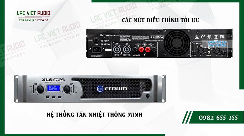 Crown XLS 1000 được trang bị hệ thống tản nhiệt thông minh cùng thiết kế các nút điều chỉnh khoa học, dễ sử dụng