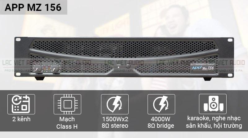 Khả năng kết nối và công suất ấn tượng trên MZ 156 của hãng APP