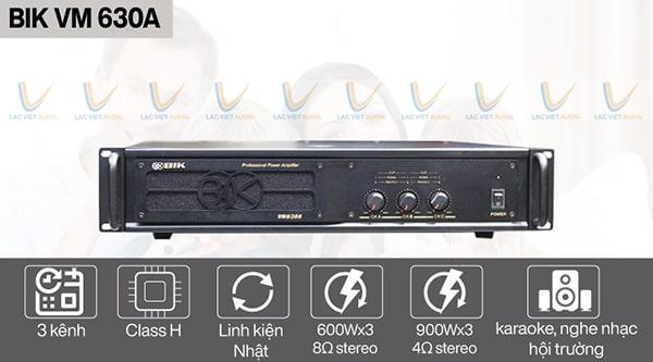 Mua cục đẩy 3 kênh BIK VM 630A chất lượng chính hãng tại Lạc Việt Audio