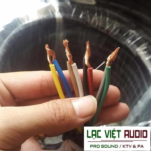 Dây loa 8 lõi chất lượng dùng trong hệ thống âm thanh chuyên nghiệp, công suất lớn