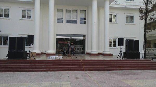 Triển khai dự án cung cấp và lắp đặt dàn âm thanh sân khấu cho khách sạn