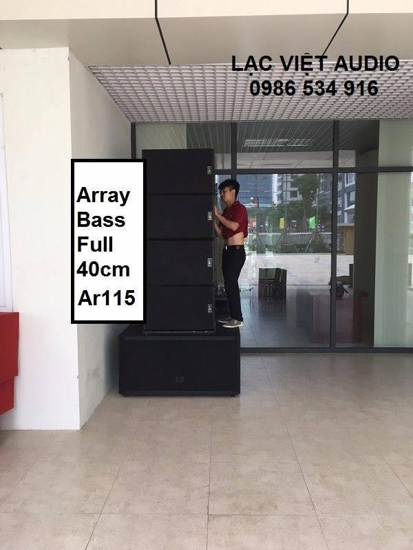 Bộ dàn loa array Pontus AR 115 và loa SUB JBL STX 828