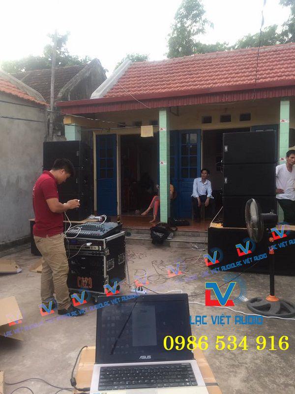 Dàn âm thanh loa array cho khách hàng Ninh Bình